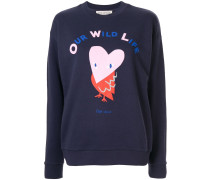 'Owl' Sweatshirt im Boyfriend-Look