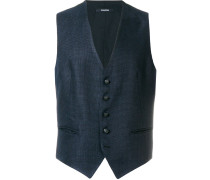 textured single breasted waistcoat