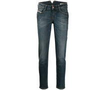 Boyfriend-Jeans mit Stone-Wash-Effekt