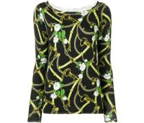 Pullover mit Ketten-Print