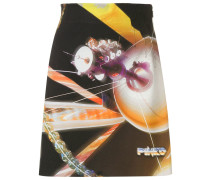 space print mini skirt