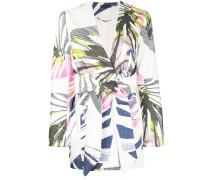'Botanical Palm' Jacquard-Jacke