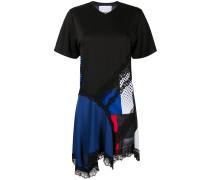 T-Shirtkleid mit Spitzeneinsätzen