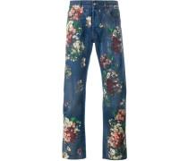 Jeans mit floralem Print