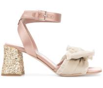 Sandalen mit Glitzereffekt