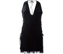 Kleid mit gerüschtem Saum