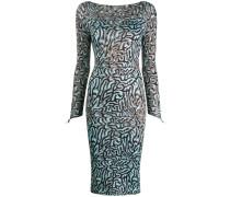 Schmales Kleid mit Print-Mix