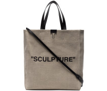 "Shopper mit ""Sculpture""-Print"