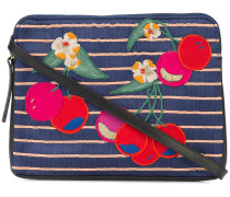 cherry patch clutch bag