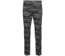 patterned cropped trousers