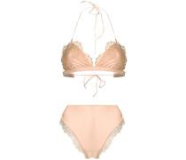 Bikini mit Spitzenbesatz