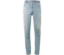 Hoch sitzende Jeans im Distressed-Look