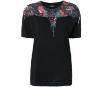 T-Shirt mit Feder-Print