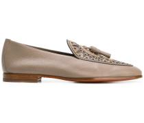 tassel detail studded slipslippers