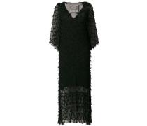 Langes Kleid mit V-Ausschnitt
