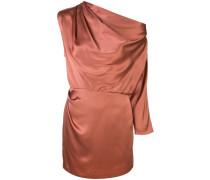 one-sleeve draped mini dress