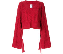 Cropped-Pullover im Oversized-Design