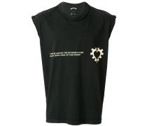 logo print vest