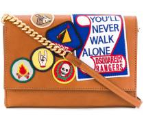 Never Walk Alone patched bag