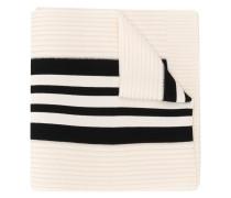 3-Stripes ribbed scarf
