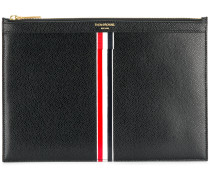 Vertical Intarsia Stripe Small Leather Tablet Holder