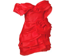 frilled fitted dress
