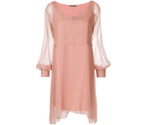 chiffon mini cape dress