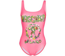 floral logo one piece