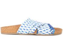 Pantoletten mit geometrischem Print
