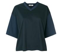 loose V-neck T-shirt