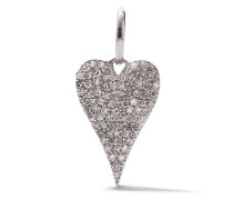 18kt Weißgoldanhänger mit Diamanten