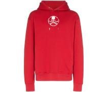 reflective logo print hoodie