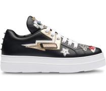 Sneakers aus Saffiano-Leder