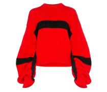 Pullover mit gerafften Ärmeln