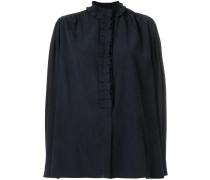 high neck ruffle shirt