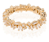 18kt yellow gold Icon baguette diamond ring