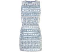 jacquard mini dress