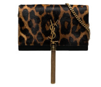 Faux-Fur-Clutch mit Leoparden-Print