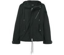 short length hooded jacket