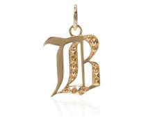 18kt 'B' Gelbgoldanhänger mit Diamanten