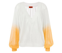 gradient sleeve blouse