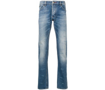 distressed effect slim-fit jeans