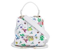 Bestickte Handtasche mit Blumen