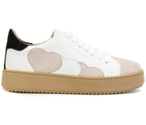 Sneakers mit Herz-Patches
