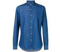 Jeanshemd mit Button-Down-Kragen