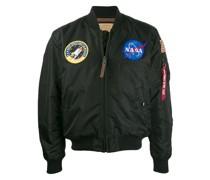 'NASA' Satin-Bomberjacke