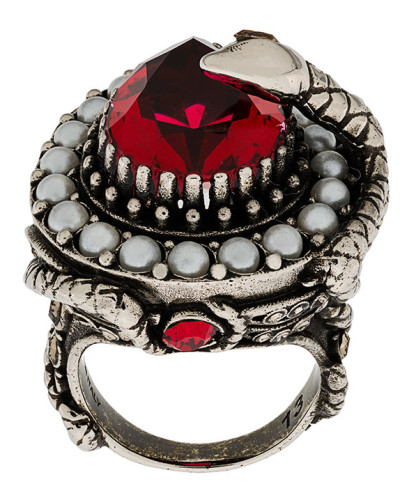 bejewelled snake ring