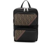 logo panelled backpack