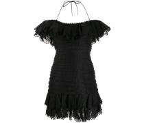 Neckholder-Kleid mit Rüschen