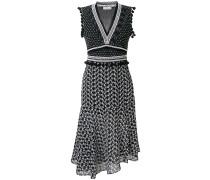 printed empire sleeveless dress